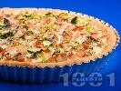Рецепта Зеленчуков киш с шунка, гъби и броколи